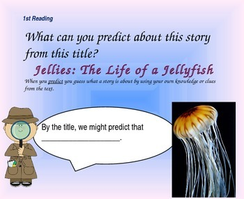 Close Reading Questioning Slides for Jellies: The Life of