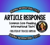 Close Reading Questions Any Text
