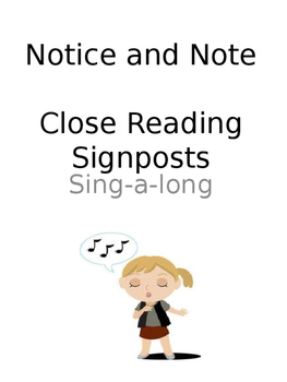 Close Reading Signpost Sing-a-Long Posters