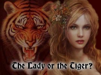 """Close Reading Task Cards with """"The Lady or the Tiger"""""""