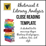 Close Reading Template for Rhetorical and Literary Analysis