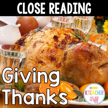 Close Reading Thanksgiving