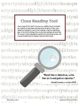 Close Reading Tool