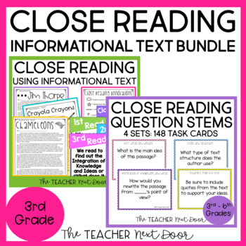 Close Reading Informational Text Bundle for 3rd Grade