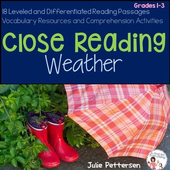 Close Reading Weather