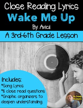 Poetry They Will LOVE: Close Reading With Lyrics- Wake Me
