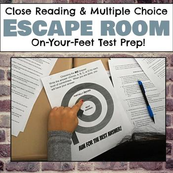 Close Reading and Multiple Choice Escape (Breakout) Room f