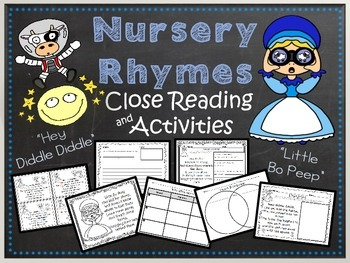 Close Reading for 1st and 2nd Grades - Nursery Rhymes