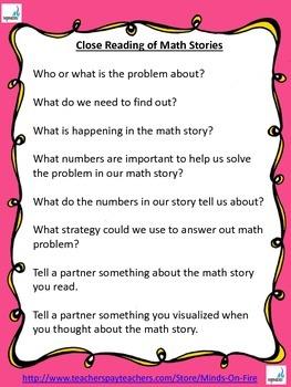 Close Reading of Math Problems