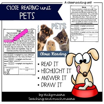 Close Reading { pet themed }