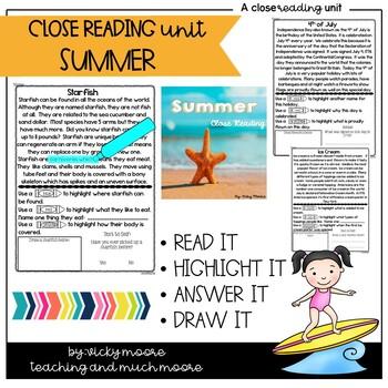Close Reading { summer themed }