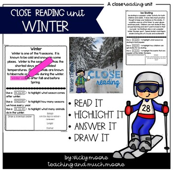 Close Reading { winter themed }