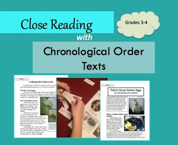 Close Reading with Chronological Order Texts: Grades 3-4