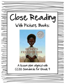 """Close Reading with Picture Books - Lesson Plan for """"Henry'"""