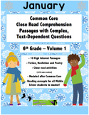 January 6th Common Core Close Read with Text Dependent Com