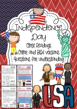 Close Readings for Independence Day (Color and b&w versions)