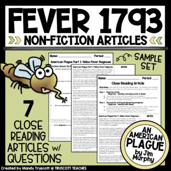 Close Readings from An American Plague by Jim Murphy; Feve