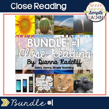 Close Reading Bundle #1 {Standards Based}