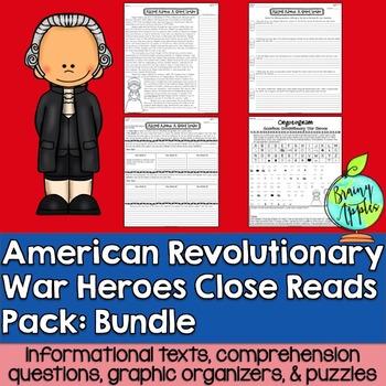 American Revolution, Revolutionary War, Leveled Passages Bundle