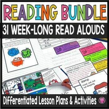 Close Reads Year Long Bundle for Kindergarten through Third Grade