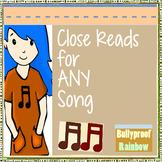 Close Reads with lyrics - critical thinking CC