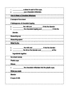 Close Recipe Worksheet