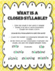 Closed Syllables- Free Sample