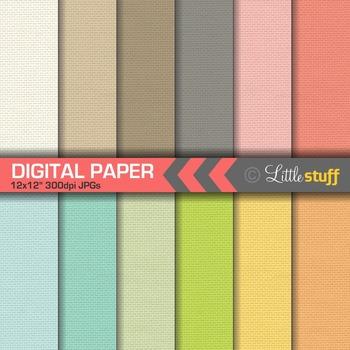 Cloth Texture Digital Papers, Subtle Digital Backgrounds