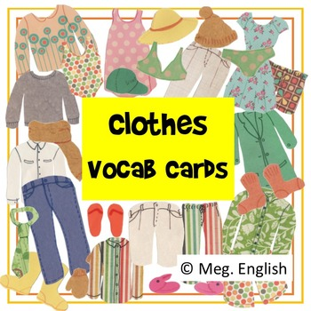 Clothes Flashcards (Australian English)