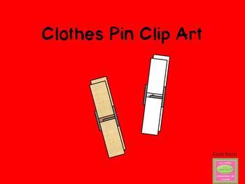 Clothes Pin Clip Art