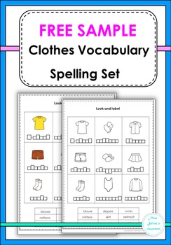 Clothes Vocabulary Spelling Set -Free Sample