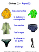 Clothes in Spanish Matching Activities