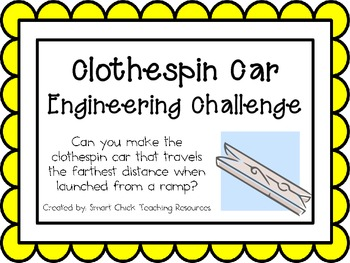 Clothespin Cars: Engineering Challenge Project ~ Great STE
