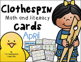 Clothespin Clip Cards - April