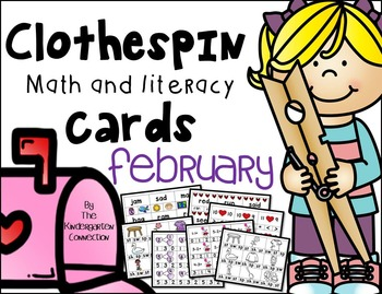 Clothespin Clip Cards - February