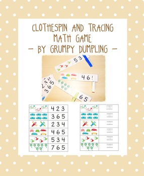 Clothespin and Tracing Math Game