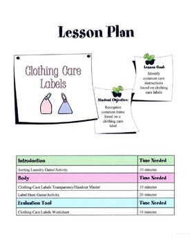 Clothing Care Labels Lesson