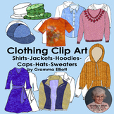Clip Art of Shirts - Hoodies - Jacket - Sweater - Caps - R