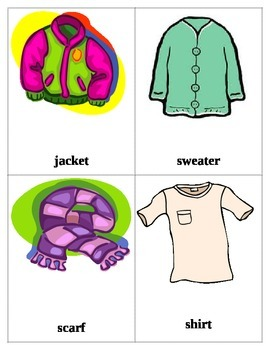 Clothing Flash Cards 1