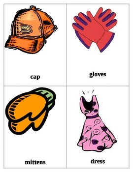 Clothing Flash Cards 2