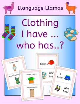Clothing 'I have ... Who has...? Game for ESL, EAL, EFL
