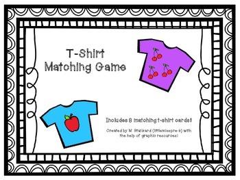 Clothing - T-Shirt Matching Game