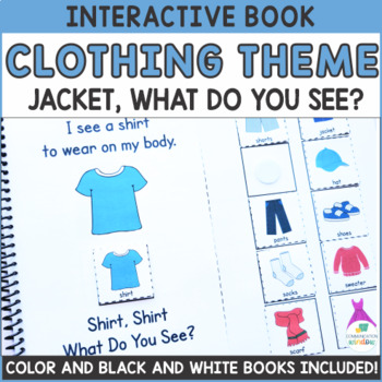 """Clothing Theme """"What Do You See?"""" Interactive Adapted Book"""