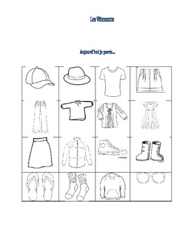 Clothing Vocabulary Dictionary
