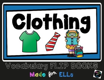ESL Clothing Vocabulary Flip Book