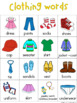 Clothing Writing Center Tools: Health and Nutition Words