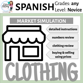 Interactive Notebook Clothing Lesson and Market Simulation