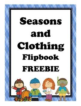 Clothing and Seasons Flipbook FREEBIE