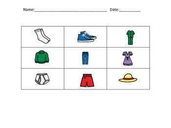 Clothing - bingo/memory/go fish