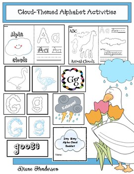 """Cloud-Themed Alphabet Activities Perfect For """"It Looked Li"""